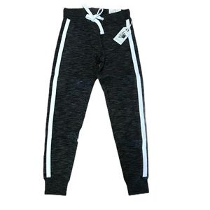 Dark grey double striped sweatpants